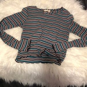 Olivia Rae Striped Crop Top